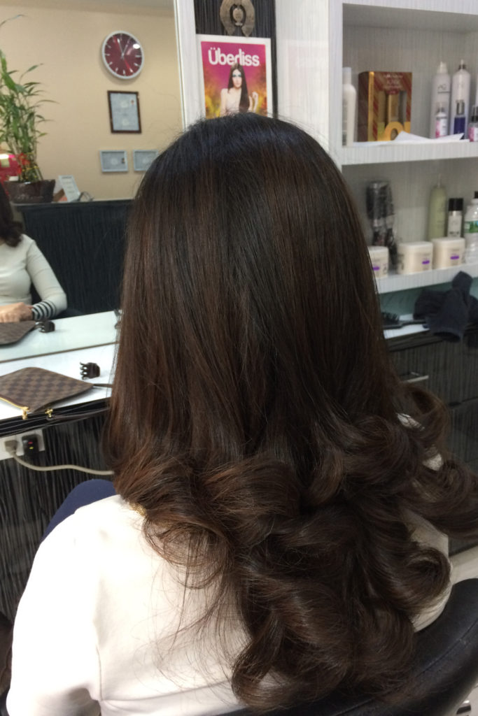 Color, hair cut and style