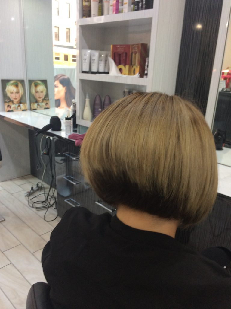 Balayage and bob hair cut
