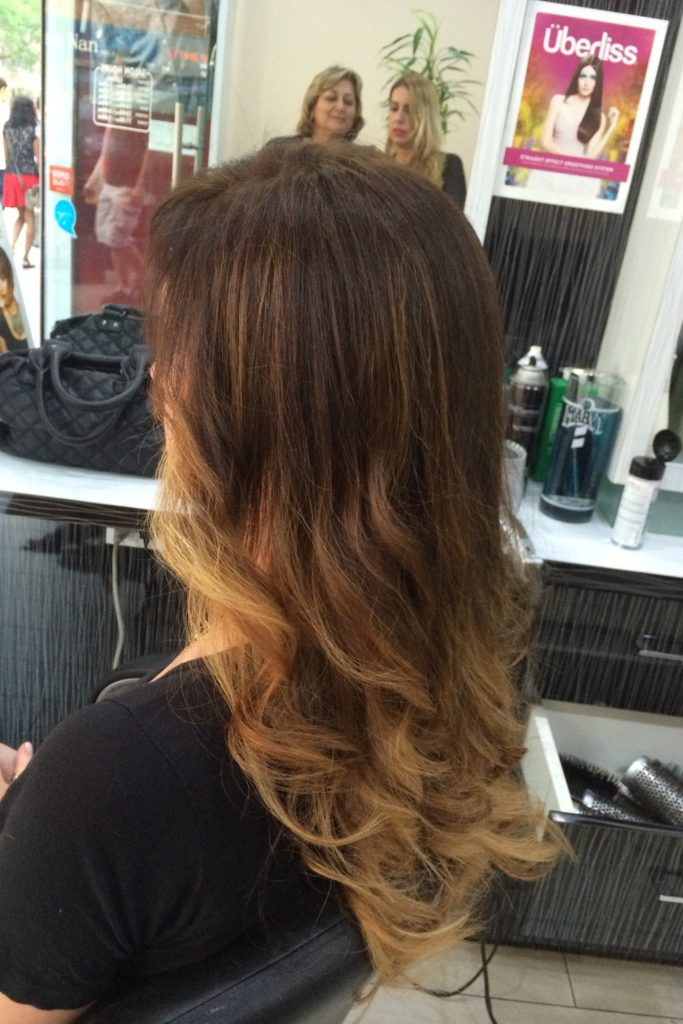Balayage-ombré and style